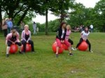 Space hoppers on the Common, by Andy Venables